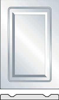 Diamond Vinyl wrapped cabinet doors