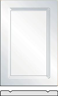 Emerald Vinyl wrapped cabinet doors