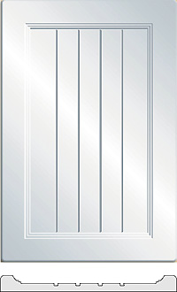 Flat Panel Grooved  cabinet doors