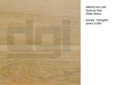 American Oak (wide strips)